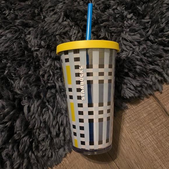 Starbucks plaid geometric tumbler